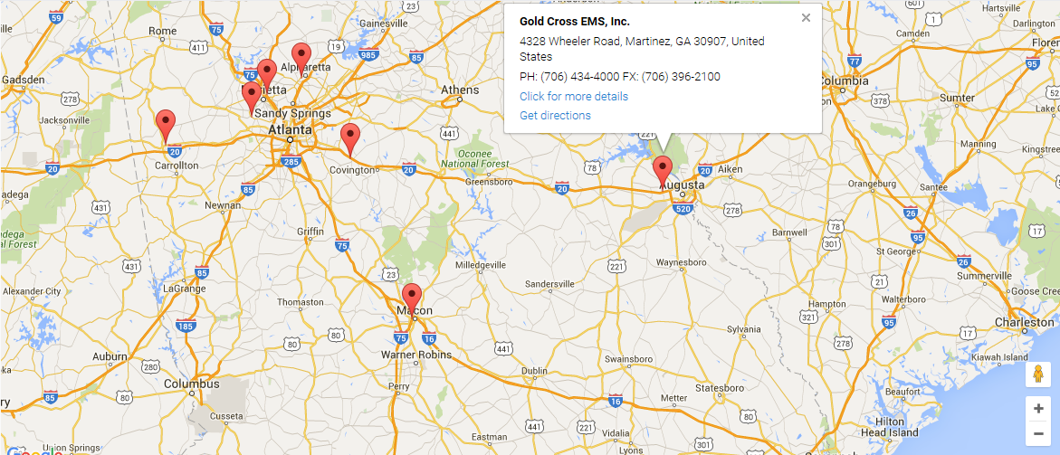 Map | Gold Cross EMS